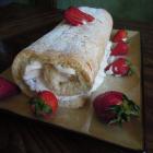 Strawberries and Cream Cake Roll