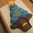 Happy Birthday Jesus Krispie Cake