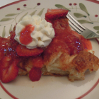 Lemon-Stuffed Overnight French Toast with Strawberries