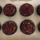 Ganache-Filled Chocolate Cupcakes