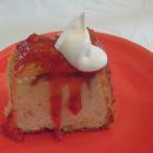 Pound Cake with Strawberry Swirl