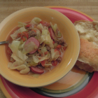 Cabbage, Tomato, and Sausage Soup