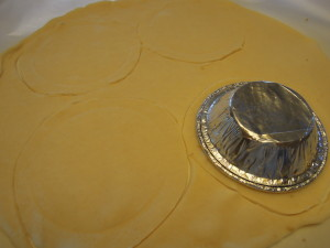 Cutting out crust