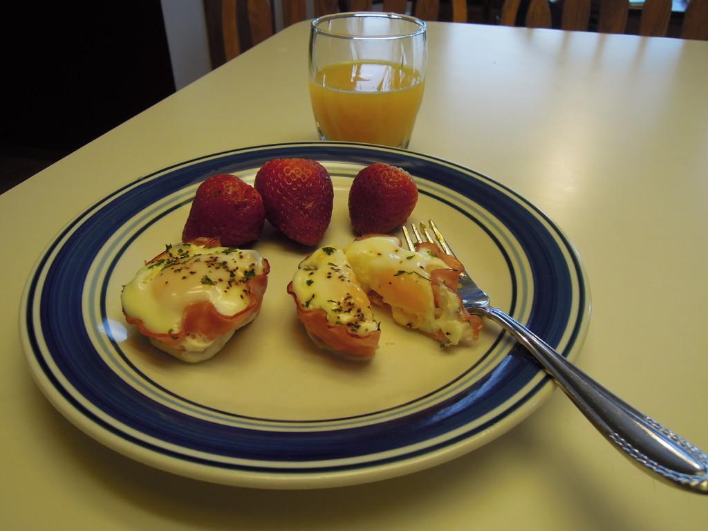 breakfast, eggs, ham, grab and go