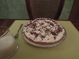 French Silk (Chocolate Pie), whole
