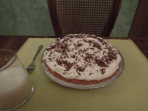 French Silk (Chocolate Pie), whole