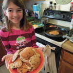 Becoming an expert at cooking. She may be taking after Mom. :)