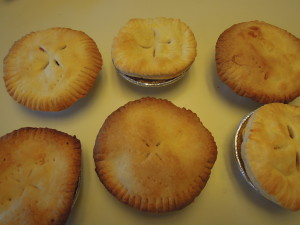 completed pot pies