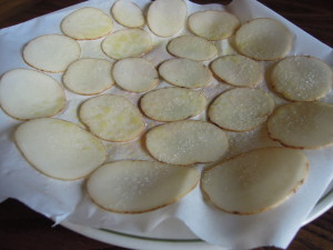 Chips ready for microwave