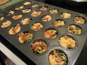 Mini quiche ready to bake