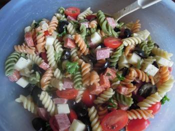 Italian pasta salad ready
