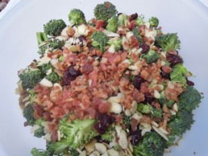 broccoli salad ready to mix