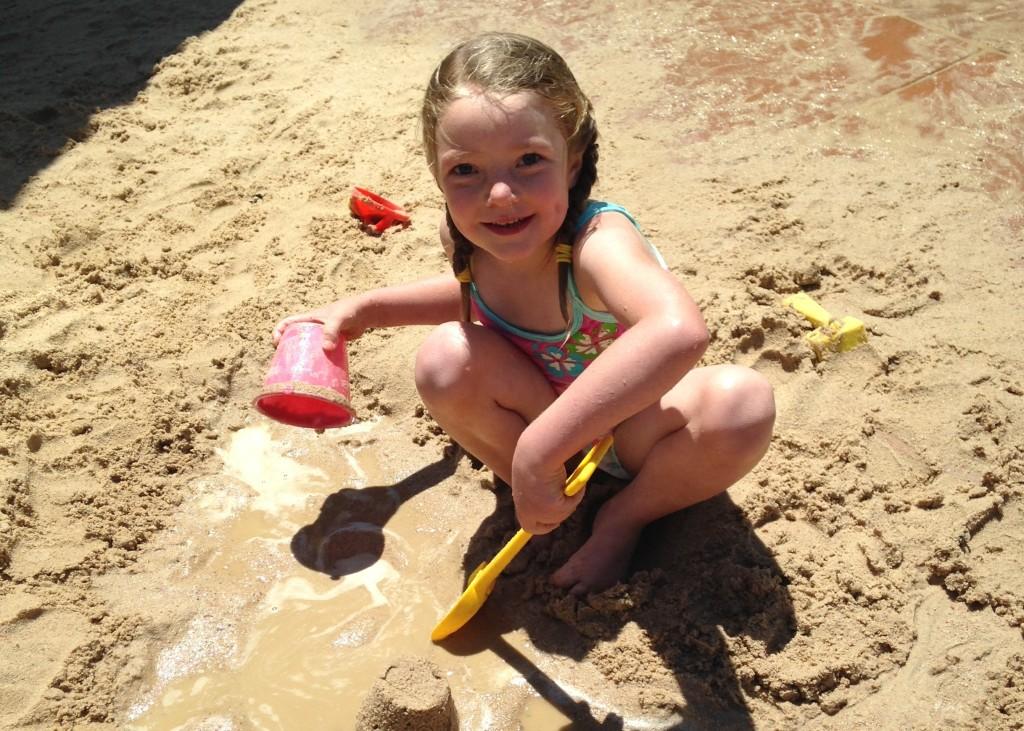 Nina at beach