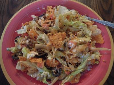 Tossed taco salad.