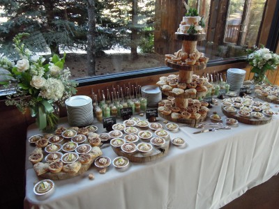 Wedding table spread