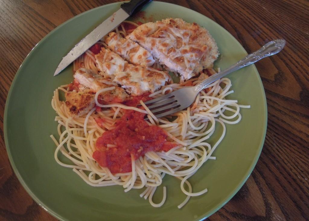 parmesan and spaghetti