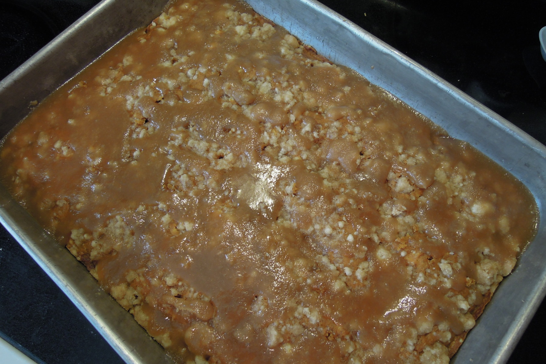 Pumpkin Coffee Cake with Brown Sugar Glaze - Christine's ...