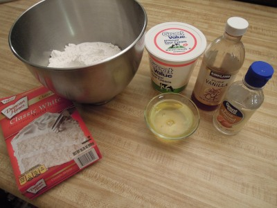 A cake mix with a few extra ingredients works great.