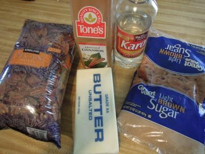 caramelized nut ingredients