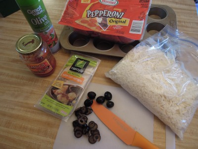 pizza cupcake ingredients