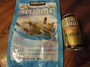 shrimp and beer