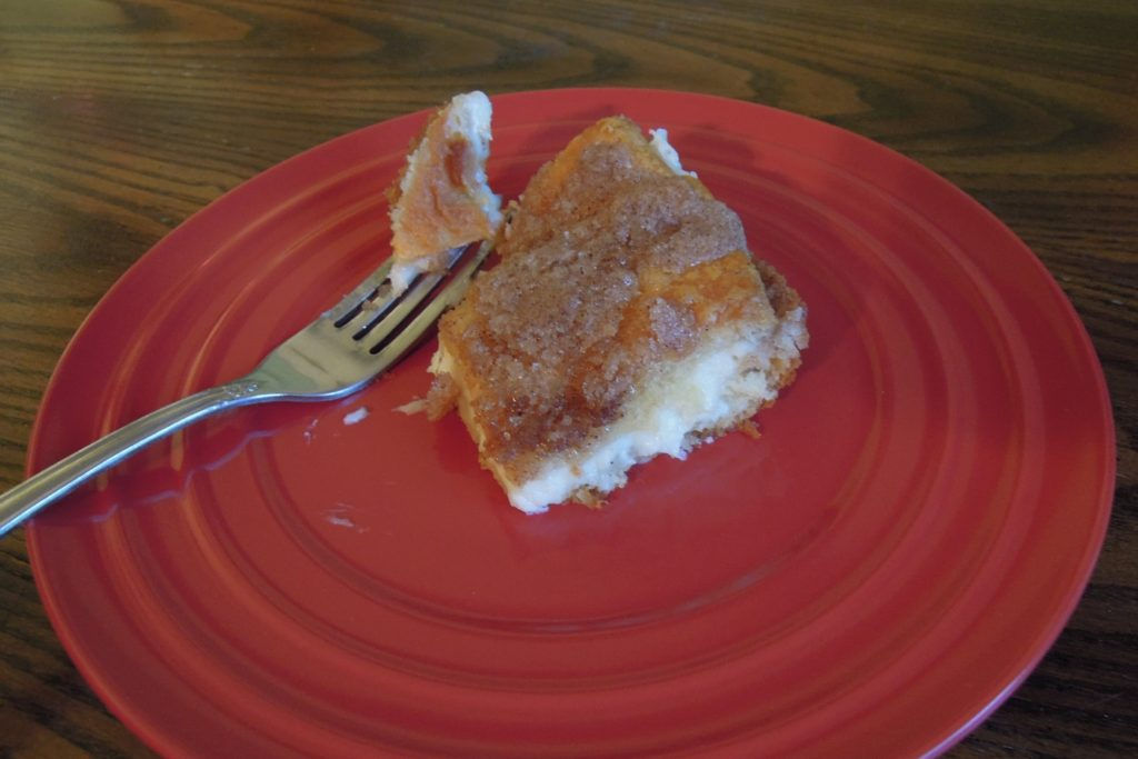 Sopapilla Cheesecake piece